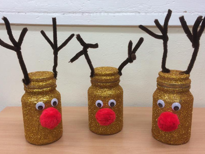 Reindeer Jars at Darnley Crafters
