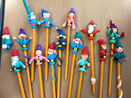 dwarf pencil toppers